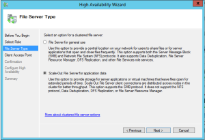 scale out file server type